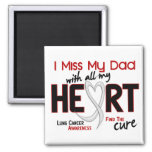 Lung Cancer I Miss My Dad 2 Inch Square Magnet