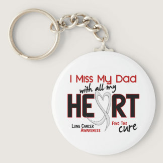 Lung Cancer I Miss My Dad Keychain