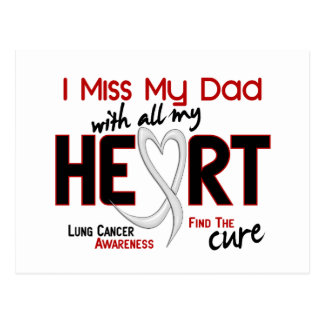 Lung Cancer I Miss My Dad Postcard