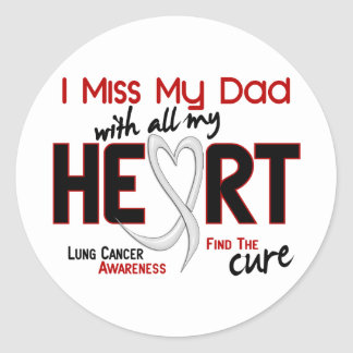 Lung Cancer I Miss My Dad Stickers
