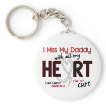 Lung Cancer I Miss My Daddy Keychain
