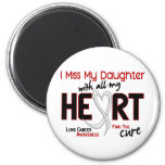 Lung Cancer I Miss My Daughter 2 Inch Round Magnet