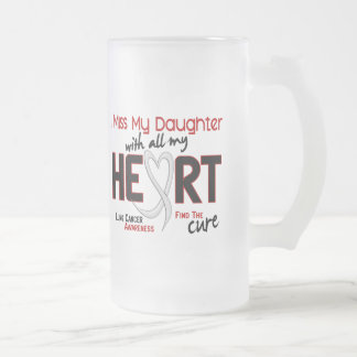 Lung Cancer I Miss My Daughter Frosted Glass Beer Mug
