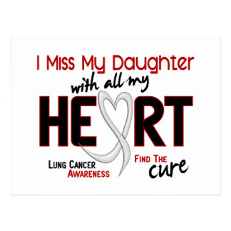 Lung Cancer I Miss My Daughter Postcard