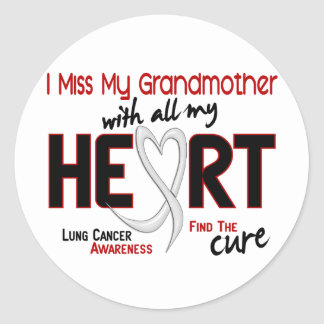 Lung Cancer I Miss My Grandmother Round Stickers