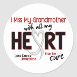 Lung Cancer I Miss My Grandmother Classic Round Sticker