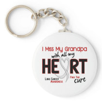 Lung Cancer I Miss My Grandpa Keychain