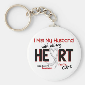 Lung Cancer I Miss My Husband Keychain