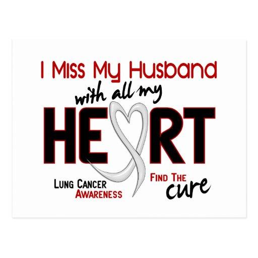 Lung Cancer I Miss My Husband Postcard