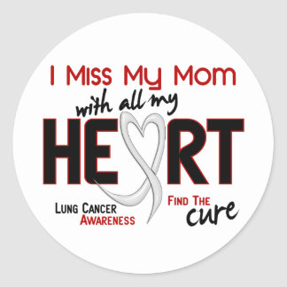 Lung Cancer I Miss My Mom Classic Round Sticker