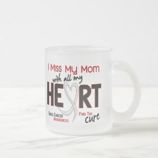 Lung Cancer I Miss My Mom Frosted Glass Coffee Mug