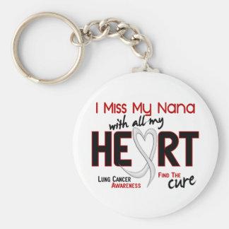 Lung Cancer I Miss My Nana Keychain