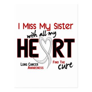 Lung Cancer I Miss My Sister Postcard