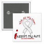 Lung Cancer I Support My Aunt 2 Inch Square Button