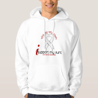 Lung Cancer I Support My Aunt Hooded Pullover