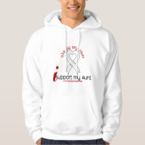 Lung Cancer I Support My Aunt Hoodie