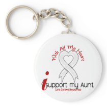 Lung Cancer I Support My Aunt Keychain