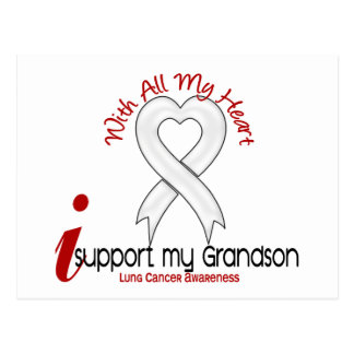 Lung Cancer I Support My Grandson Postcard