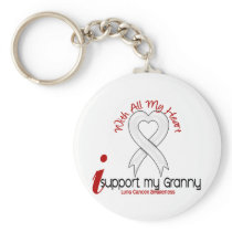 Lung Cancer I Support My Granny Keychain