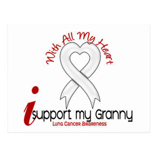 Lung Cancer I Support My Granny Postcard