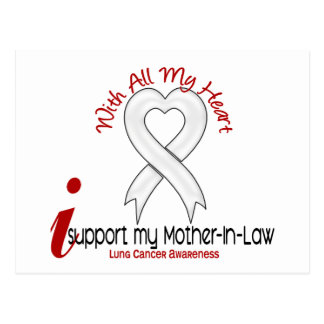 Lung Cancer I Support My Mother-In-Law Postcard