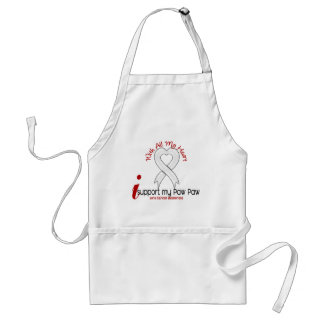Lung Cancer I Support My Paw Paw Adult Apron