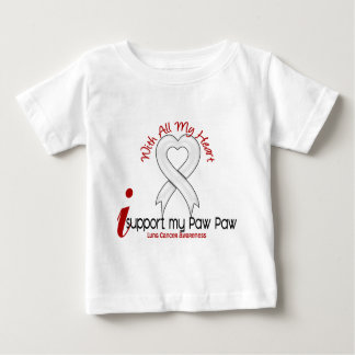Lung Cancer I Support My Paw Paw Tshirts