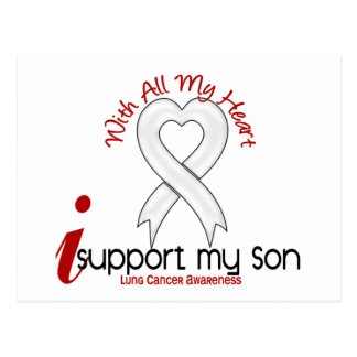 Lung Cancer I Support My Son Postcard