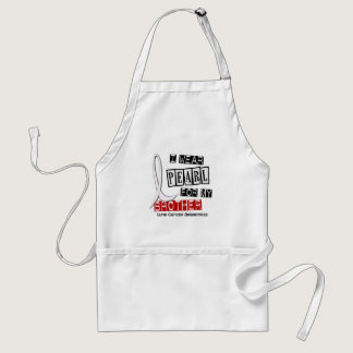 Lung Cancer I WEAR PEARL 37 Brother Adult Apron