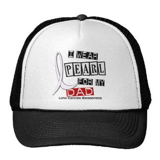 Lung Cancer I WEAR PEARL 37 Dad Trucker Hat