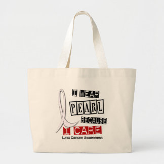 Lung Cancer I WEAR PEARL 37 I Care Tote Bag