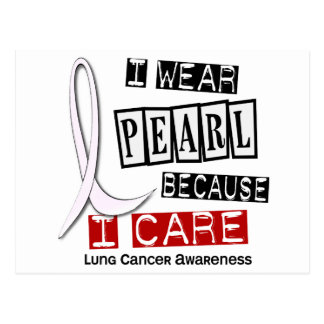Lung Cancer I WEAR PEARL 37 I Care Postcard