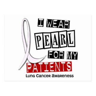 Lung Cancer I WEAR PEARL 37 Patients Postcard
