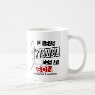 Lung Cancer I WEAR PEARL 37 Son Coffee Mug