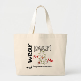 Lung Cancer I WEAR PEARL FOR ME 43 Canvas Bag