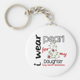 Lung Cancer I WEAR PEARL FOR MY DAUGHTER 43 Key Chains