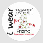 Lung Cancer I Wear Pearl For My Friend 43 Sticker