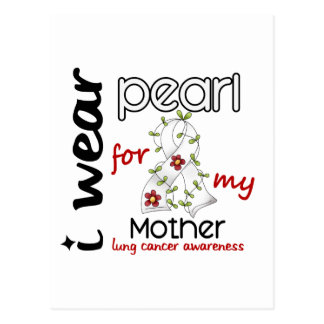 Lung Cancer I WEAR PEARL FOR MY MOTHER 43 Postcard
