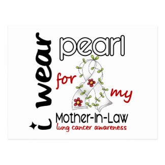 Lung Cancer I Wear Pearl For My Mother-In-Law 43 Postcard