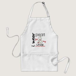 Lung Cancer I Wear Pearl For My Uncle 43 Adult Apron