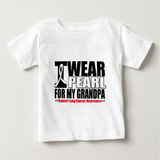 Lung Cancer I Wear Pearl Ribbon For My Grandpa T-shirt