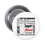 Lung Cancer I Wear Pearl Ribbon TRIBUTE Pin