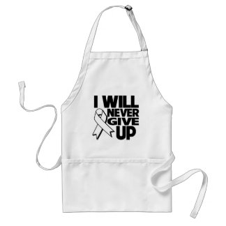 Lung Cancer I Will Never Give Up Adult Apron
