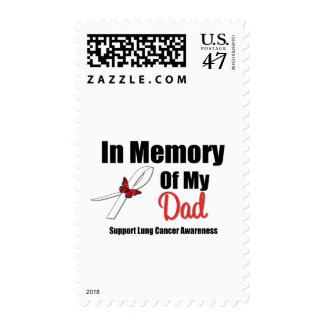Lung Cancer In Memory of My Dad Postage