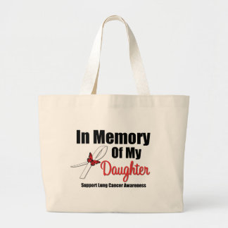 Lung Cancer In Memory of My Daughter Jumbo Tote Bag