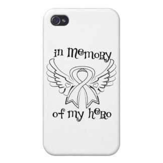 Lung Cancer In Memory of My Hero Case For iPhone 4