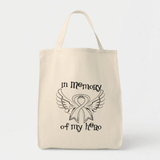 Lung Cancer In Memory of My Hero Grocery Tote Bag
