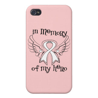 Lung Cancer In Memory of My Hero iPhone 4 Cover