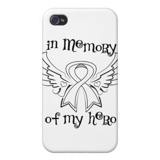 Lung Cancer In Memory of My Hero Cover For iPhone 4