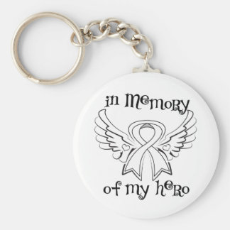 Lung Cancer In Memory of My Hero Basic Round Button Keychain